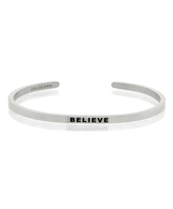 CHOOSE YOUR MANTRA PHRASE - Further Design & Customize your Dolceoro Cuff Bracelet - 316L Stainless Steel - CV1882G93CK