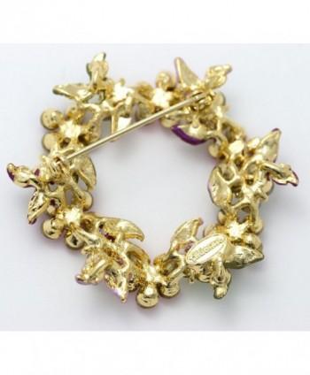 Akianna Gold tone Swarovski Crystals Patriotic in Women's Brooches & Pins