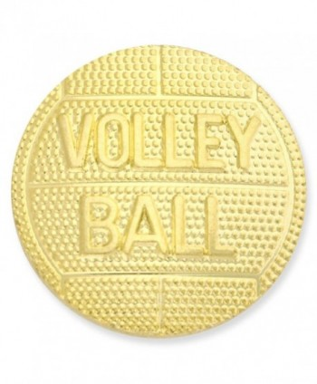 Volleyball Gold Chenille Lapel Pin - C4119PEM8VD