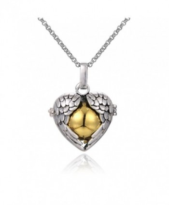 """Mexican Bola Harmony Chime Ball Angel Caller Pregnancy Locket Pendant Necklace Women Gifts 30"""" - Gold - C612IFT3TCF"""
