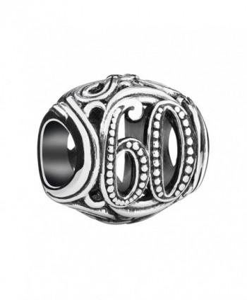 """Authentic Chamilia Sterling Silver Milestones Charm """"60"""" 2010-3326 - CB12BOH6F03"""