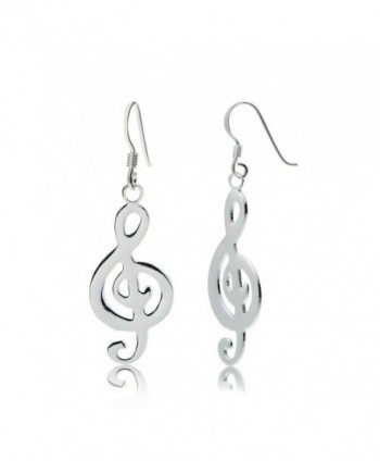 Sterling Silver Musical Note Polished Earrings - CE12HHH9VK5