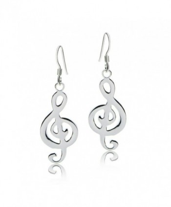 Sterling Silver Musical Polished Earrings