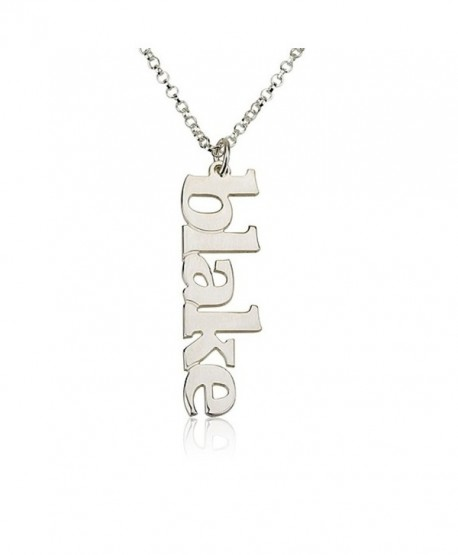 Vertical Name Necklace Personalized Name Necklace -925 Sterling Silver Choose any name to personalize - CZ11O4VOGPN