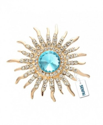 SENFAI New Arrival Sun Brooch Rose Gold Plated Fine Jewelry Nickel Free Luxury Jewelry - C312KJ5E8MN
