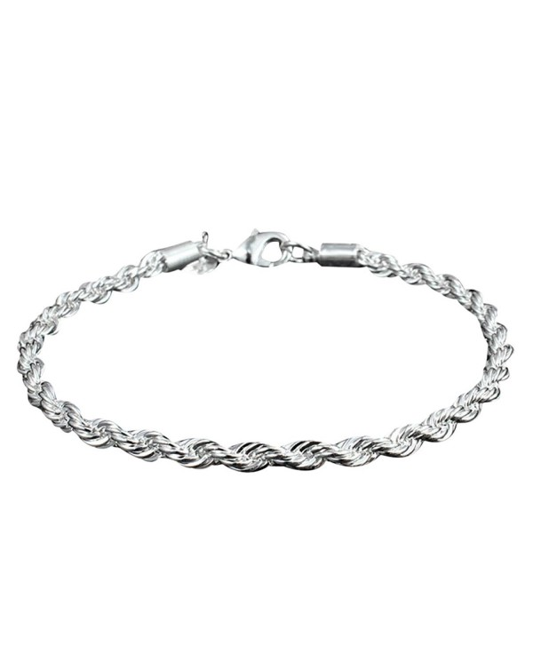 SusenstoneWomen Twisted Rope Solid Bangle Bracelet Chain Wristband - CI1296IW7UJ