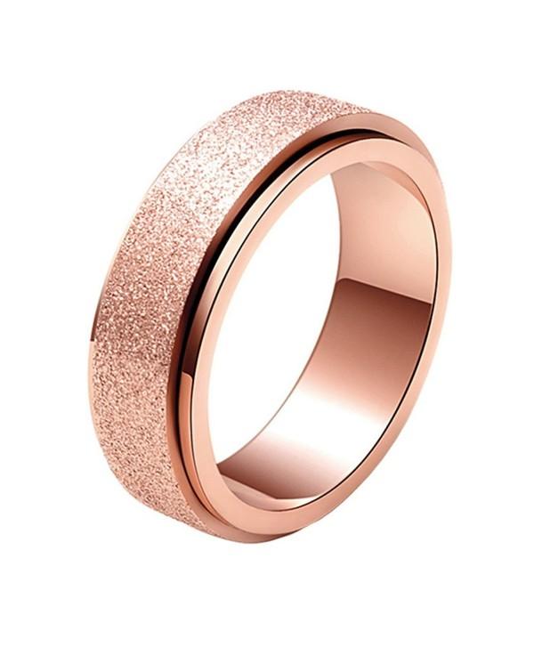 SINLEO Womens Fashion Stainless Spinner - Rose Gold - CB1866KGSZQ