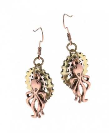 MagiDeal Vintage Steampunk Earring Octopus