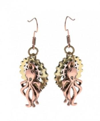 MagiDeal Vintage Steampunk Earring Octopus in Women's Drop & Dangle Earrings