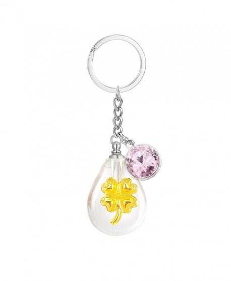 Cremation Teardrop Keychain Birthstone Necklace - October-Tourmaline - CE1843AEYI5