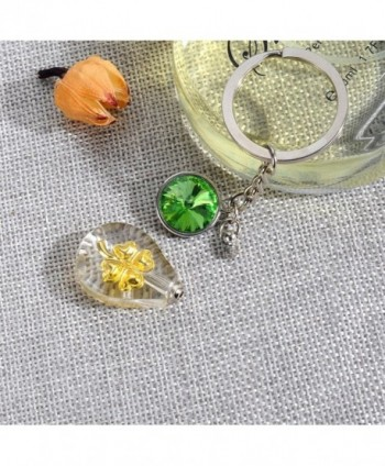 Cremation Teardrop Keychain Birthstone Necklace in Women's Chain Necklaces