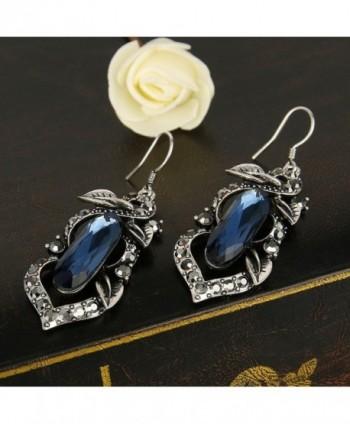 BriLove Oblong Shape Chandelier Earrings Silver Tone in Women's Drop & Dangle Earrings