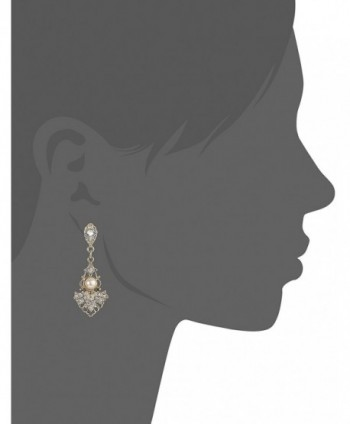 Downton Abbey Gold Tone Crystal Studded Earrings