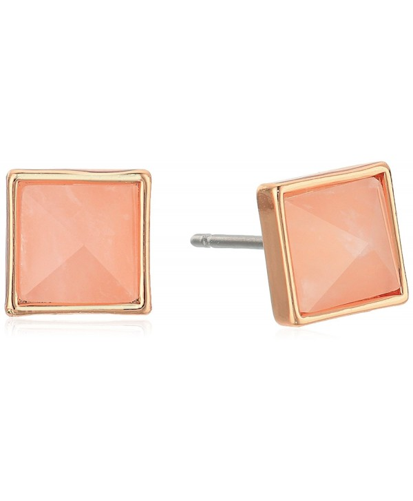 Vera Bradley Casual Glam Earrings - Rose Gold Tone With Pink - CU12O5RXL65