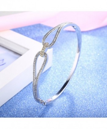Angelady Infinity Bracelet Zirconia Jewelry in Women's Bangle Bracelets