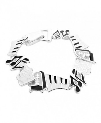 Rosemarie Collections Women's Music Lover Grand Piano Magnetic Clasp Bracelet - CM11T27ON6B