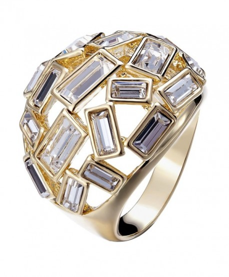 FAPPAC Bold Statement Ring Enriched with Swarovski Crystals - CD12JVVXN3B