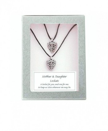 Mother Daughter Twin Heart Gift Lockets Pendants (2 Locket Necklaces)- Mothers Day - C611KGAH16B