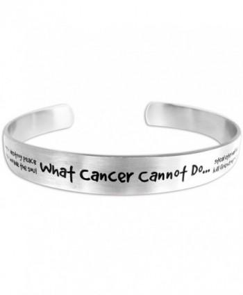 High Polished Stainless Steel Cancer Awareness Bracelet What Cancer Cannot Do Adjustable Bracelet - CL11D5YIKCF