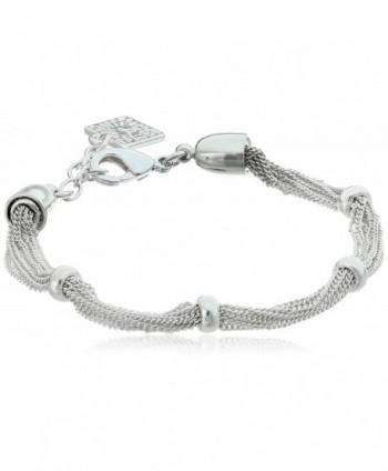 "Anne Klein ""Classics"" Mesh Stretch Bracelet - Silver - C711D7QC54F"