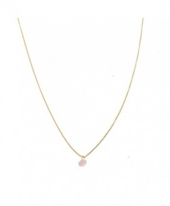 HONEYCAT Gold Rose Quartz Karma Single Crystal Necklace | Minimalist- Delicate Jewelry - CL12EMEC7R5