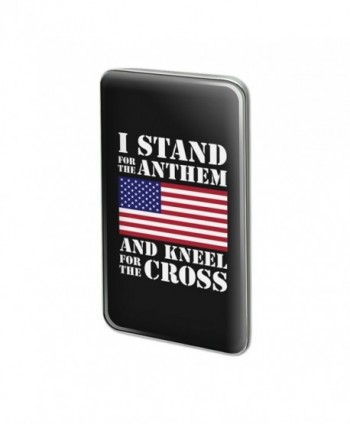I Stand For The Flag Kneel Cross USA Rectangle Lapel Pin Tie Tack - C5187273R6C
