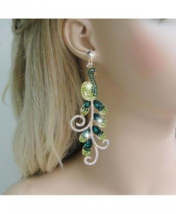 EVER FAITH Gold Tone Teardrop Earrings