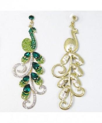 EVER FAITH Gold Tone Teardrop Earrings in Women's Drop & Dangle Earrings