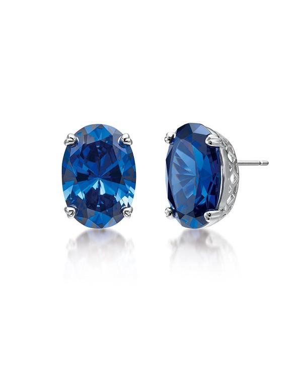 MIYUMIRO Women's Royal Emma Stud Earrings - Royal Blue Collection - CB12NB610HR