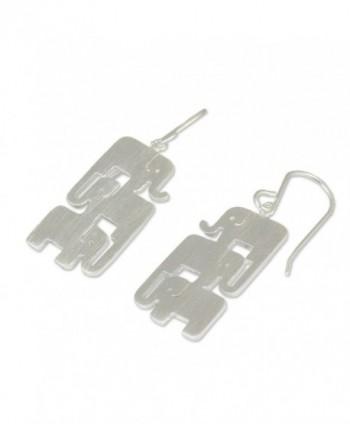NOVICA Sterling Silver Earrings Elephant