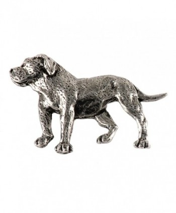 Creative Pewter Designs- Pewter Full Body American Bulldog Handcrafted Dog Lapel Pin Brooch- D306F - C4122XIZX2X