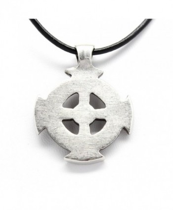 Pewter Celtic Pendant Leather Necklace
