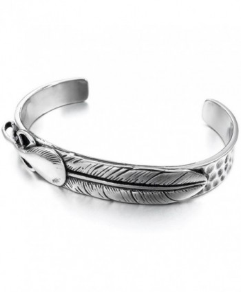INBLUE Womens Stainless Bracelet Feather