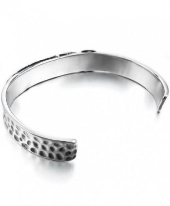 INBLUE Womens Stainless Bracelet Feather in Women's Cuff Bracelets