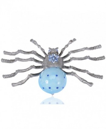 Alilang Extra Large Blue Bodied Vintage Inspired Daddy Long Leg Spider Fashion Pin Brooch - CB112TAUTZL