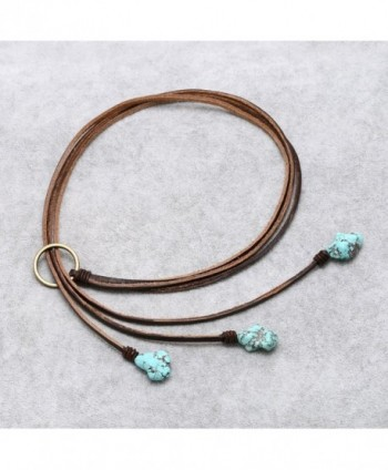 Bohemian Reconstituted Turquoise Necklace Earrings in Women's Y-Necklaces