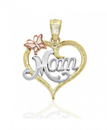 Gold Mom Inside Heart Charm- 10k Solid Gold- Mother's Day - CH12D5OUCWP