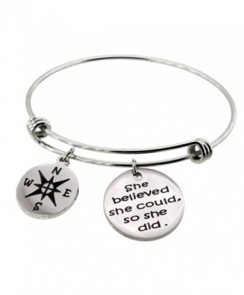 WDSHOW Inspirational Adjustable Bracelets Graduation - 2 charms/diameter : 2.55inch - C6184RTAACQ