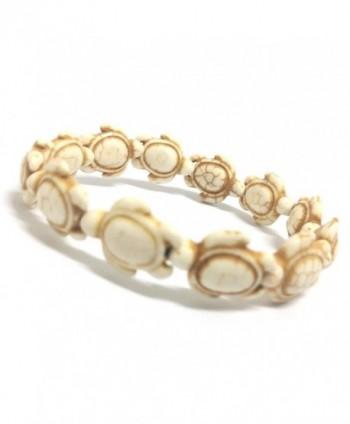 White Handmade Sea Turtles Bracelet