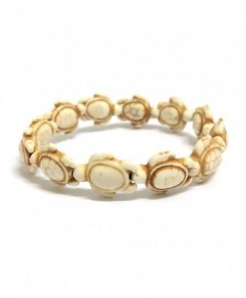 White Handmade Sea Turtles Bracelet in Women's ID Bracelets