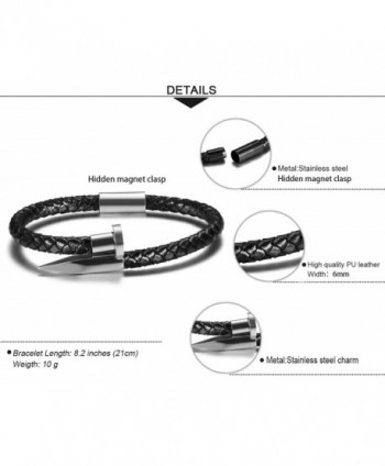 JTrendy Tri Color Genuine Leather Bracelet