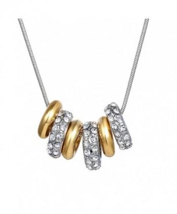 6-ring Women's Fashion Necklace with Swarovski Elements - CG128M1AZWR