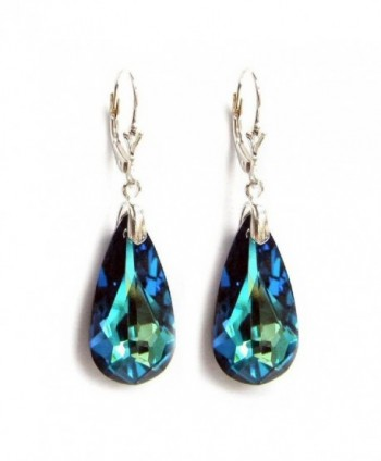 Swarovski Elements Sterling Leverback Earrings