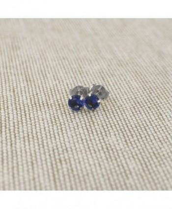 White 25tcw Simulated Sapphire Earrings