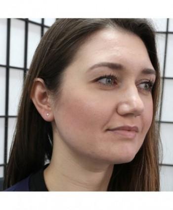 White 25tcw Simulated Sapphire Earrings in Women's Stud Earrings
