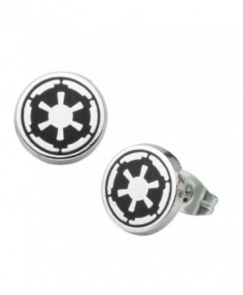 Galactic Empire Symbol Star Wars Stainless Steel Stud Earrings - CR1289FHAN3