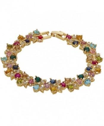 Rizilia Jewelry Multi Color Statement Bracelet