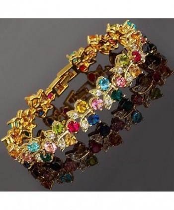 Rizilia Jewelry Multi Color Statement Bracelet in Women's Tennis Bracelets
