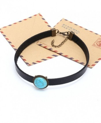 Yunhan Natural Turquoise Necklace Adjustable in Women's Choker Necklaces