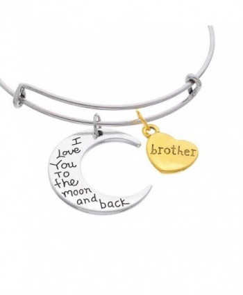 Pendants Brother Expandable Bangle Bracelet
